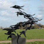 Vogelzwermkunstwerk